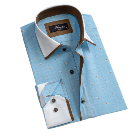 Reversible Cuff Button-Down Shirt I // Light Blue (S)