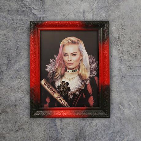 "Margot Robbie Art (32""W x 24""H x 1.2""D Red Frame)"