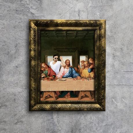 "Salt Bae Feast Art (32""W x 24""H x 1.2""D Gold Frame)"