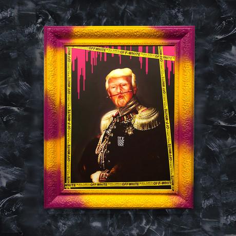 "Donald Trump Art (32""W x 24""H x 1.2""D Yellow Frame)"