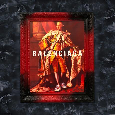 """Balenciaga Art (32""""W x 24""""H x 1.2""""D Red Frame)"""