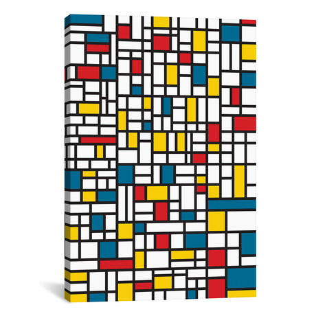 """Mondrian Extreme // The Usual Designers (12""""W x 18""""H x 0.75""""D)"""