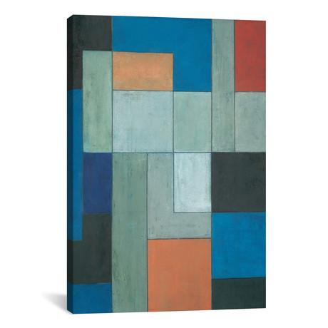 "Grey Matters Blue // Stephen Cimini (12""W x 18""H x 0.75""D)"