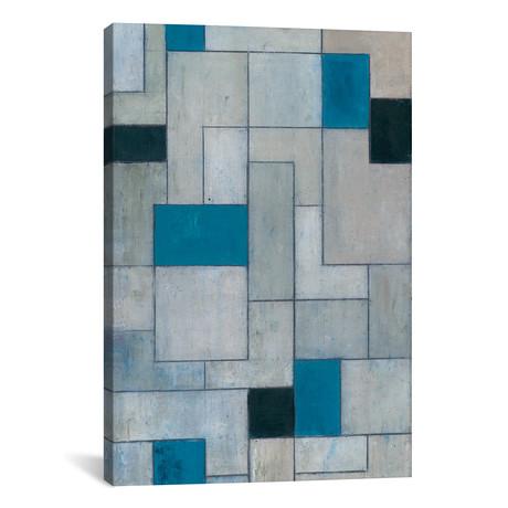 "Grey Matters Black and Blue // Stephen Cimini (12""W x 18""H x 0.75""D)"