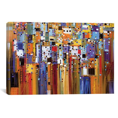 """Colorful City // Ekaterina Ermilkina (18""""W x 12""""H x 0.75""""D)"""