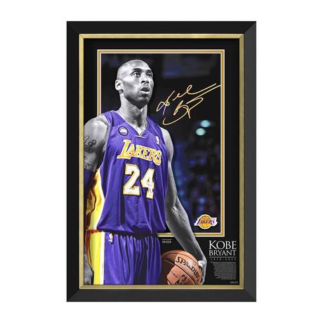 """Portrait of A Hero"" Kobe Bryant // Limited Edition Display // Facsimile Signature"