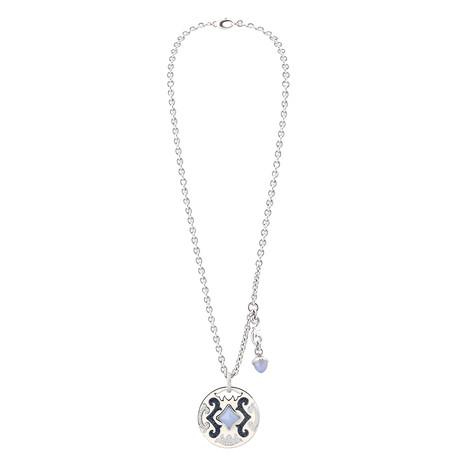Nouvelle Bague Petali 18k White Gold Multi-Stone Pendant Necklace