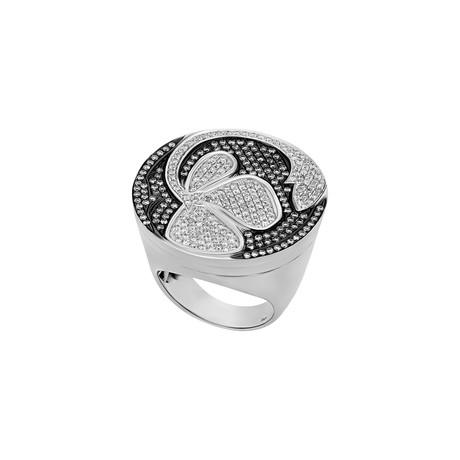 Nouvelle Bague Petali 18k White Gold Diamond Ring // Ring Size: 7.5