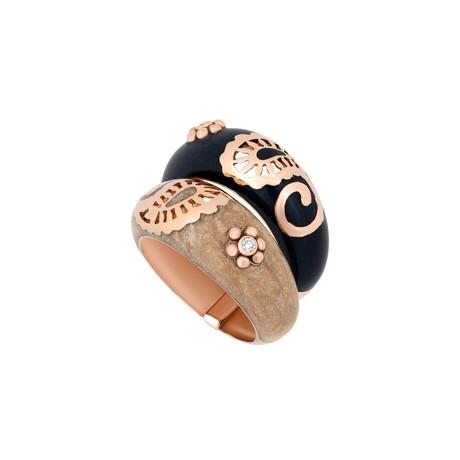 Nouvelle Bague 18k Rose Gold Diamond Ring // Ring Size: 7.5