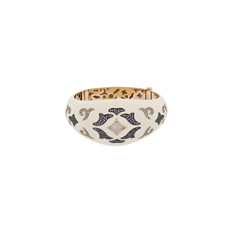 Nouvelle Bague 18k Rose Gold Multi-Stone Bangle Bracelet