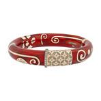 Nouvelle Bague Hammam della Rosa 18k Rose Gold Diamond + Sinopia Enamel Bangle Bracelet