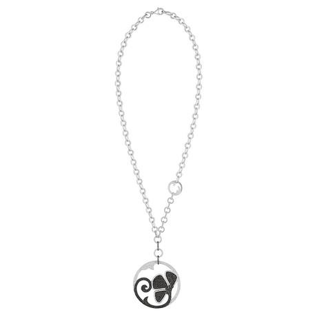 Nouvelle Bague Petali 18k White Gold Diamond Pendant Necklace