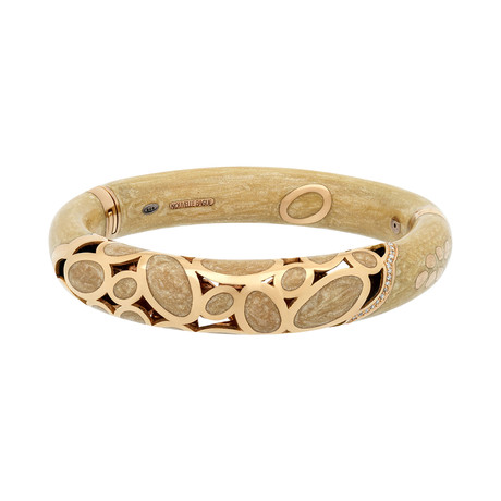 Nouvelle Bague 18k Rose Gold Diamond Bangle Bracelet
