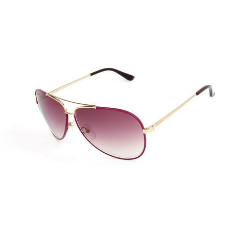 Women's SF131S Sunglasses // Shiny Light Gold + Cyclamen