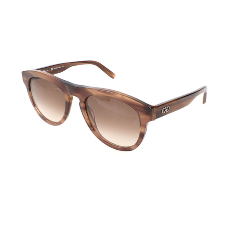 Men's SF828S Sunglasses // Striped Brown