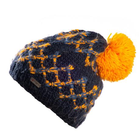 Laurx Beanie // Navy + Orange