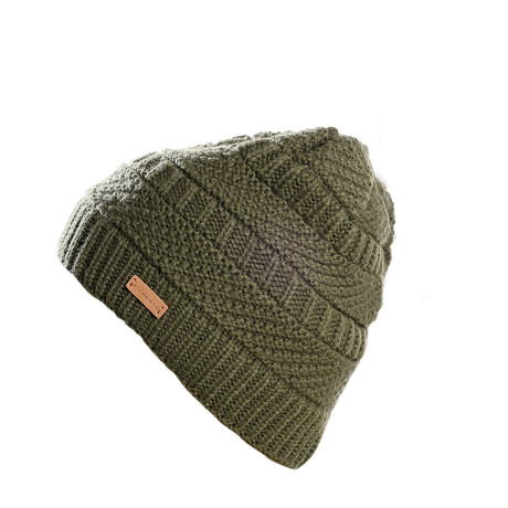 Wolle Beanie // Olive