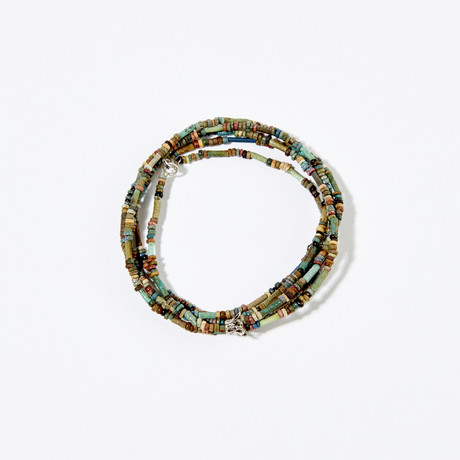 Ancient Egypt, 664-535 BC // Faience Bead Necklace