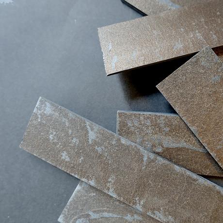 "Slate-ish Loose Pieces // Bronze (1.5""W)"