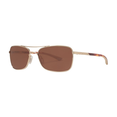Costa Del Mar // Palapa AP64 OCGLP Polarized Sunglasses // Rose Gold + Brown Copper