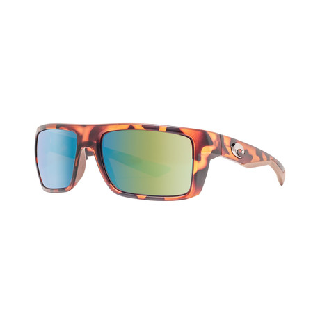 Costa Del Mar // Unisex Motu MTU66GMGLP Polarized Sunglasses // Tortoise + Green