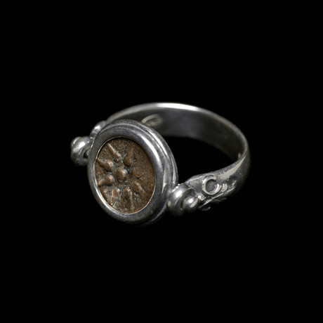 """Widow's Mite"" Coin Of The Bible // Set In Custom Silver Ring"