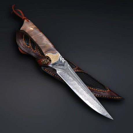 The Fox Damascus Fixed Blade