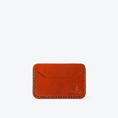 3 Slot Card Wallet // Cognac