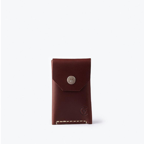 Micro Wallet // Red Brown