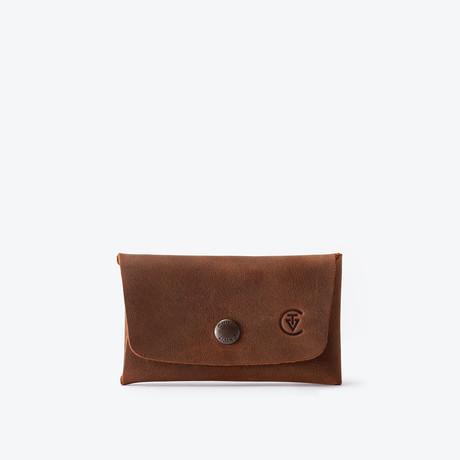 Double Closure Wallet // Antique Brown