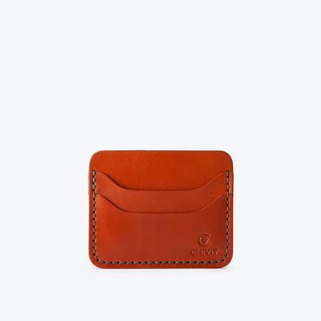 5 Slot Card Wallet // Cognac
