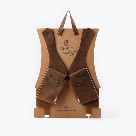 Double Holster // Antique Brown