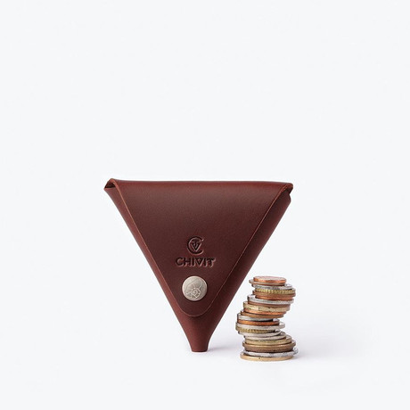 Triangle Case // Red Brown