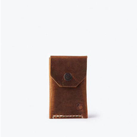 Micro Wallet // Antique Brown