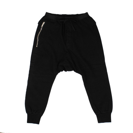 Unravel Project // Drop-Crotch Sweatpants // Black (XXS)