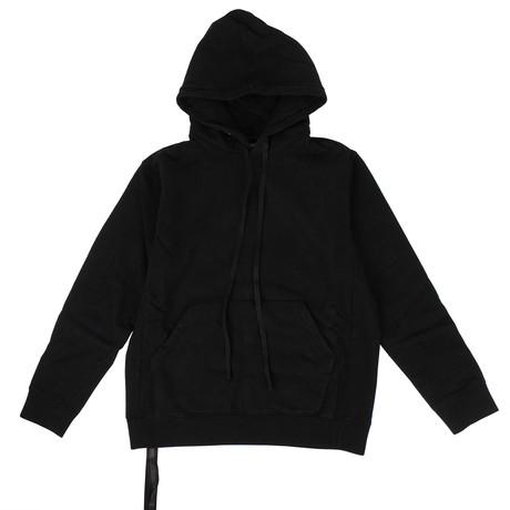 Unravel Project // Brushed Hooded Sweatshirt // Black (XXS)