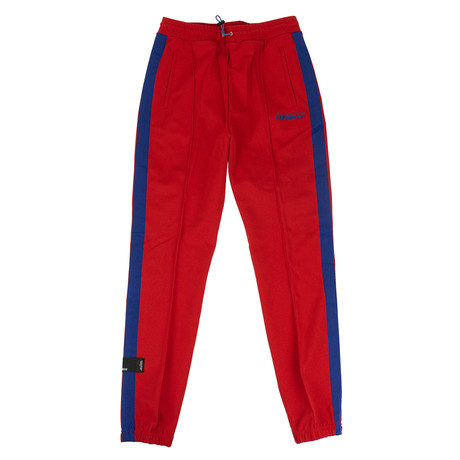 Unravel Project // Blue Side Stripe Track Pants // Red (XXS)