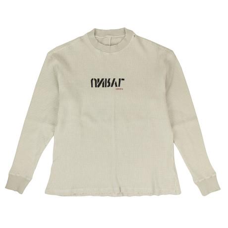 Unravel Project // Waffle Knit Skate T-Shirt // Beige (XXS)
