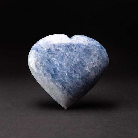 Large // Blue Calcite Heart