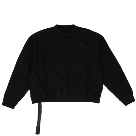 Unravel Project // Cotton Motion Terry Crew-Neck Sweater // Black