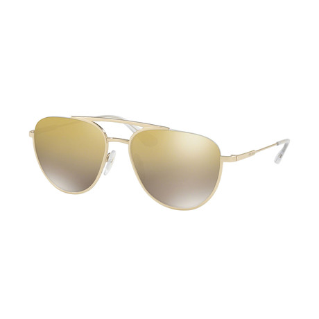 Prada // Unisex Aviator Sunglasses // Gold