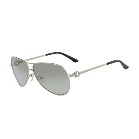 Ferragamo // Women's Shaded Aviator Sunglasses // Light Gray