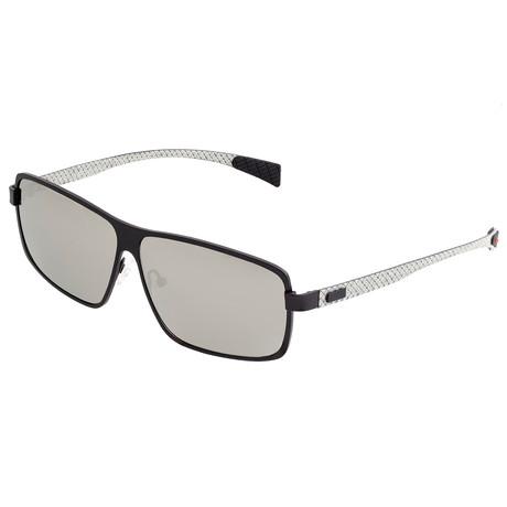 Finlay Polarized Sunglasses // Titanium (Brown Frame + Silver Lens)