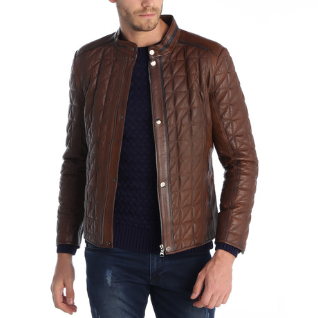 Orlando Leather Jacket // Brown (XS)