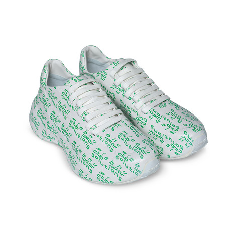 MISBHV // Club Wear Solutions Moontrainers // White + Green (Euro: 40)
