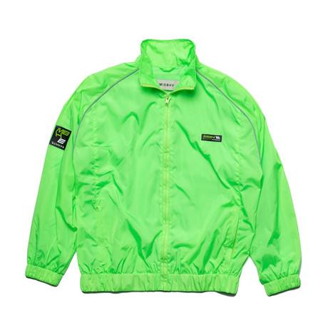 MISBHV // Europa Track Jacket // Neon Green (XS)
