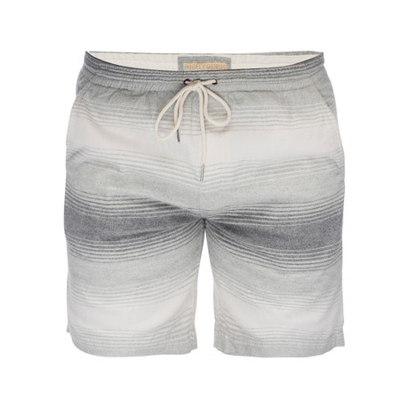 Steve Pull On Brushed Cotton Short // Gray + White (XS)