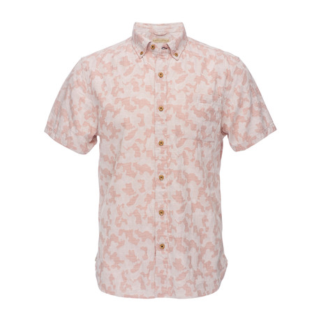 Truman Short Sleeve Button Down Shirt // Pink (XS)