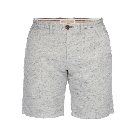 Morgan Slub Bermuda Short // Oatmeal + Indigo (28)