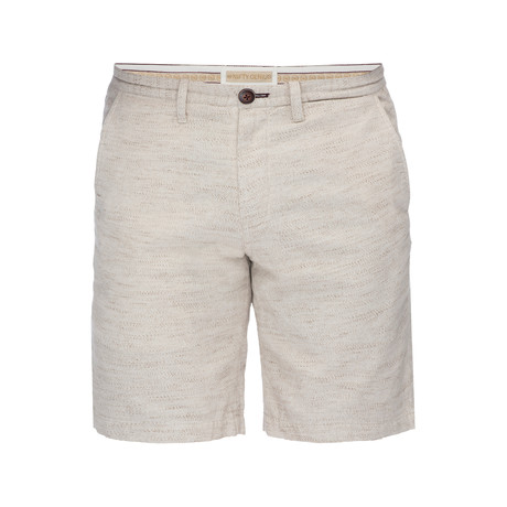 Morgan Slub Bermuda Short // Oatmeal + Brown (28)